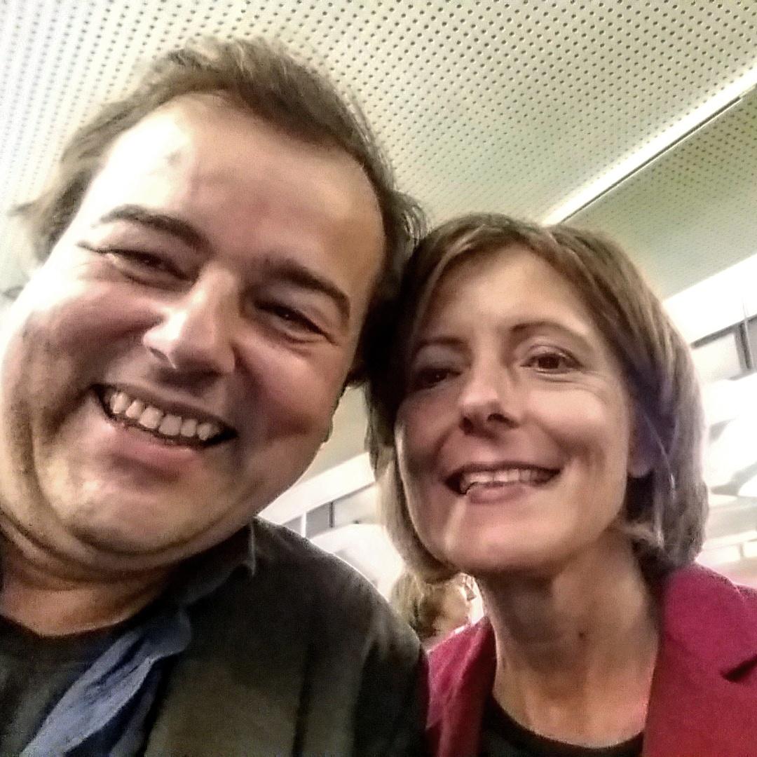 Selfie mit Malu Dreyer im Theater Trier September 2015